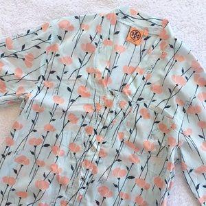 Tory Burch Floral Poppy Loungewear Dress